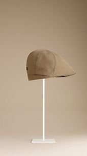 Check-Lined Flat cap