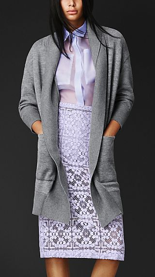 Cashmere Knit Cardigan Jacket
