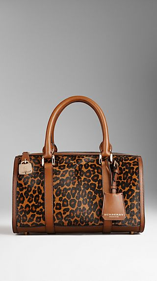 Animal Print and House Check Bowling Bag