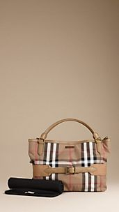 Bolso tote cambiador de checks House