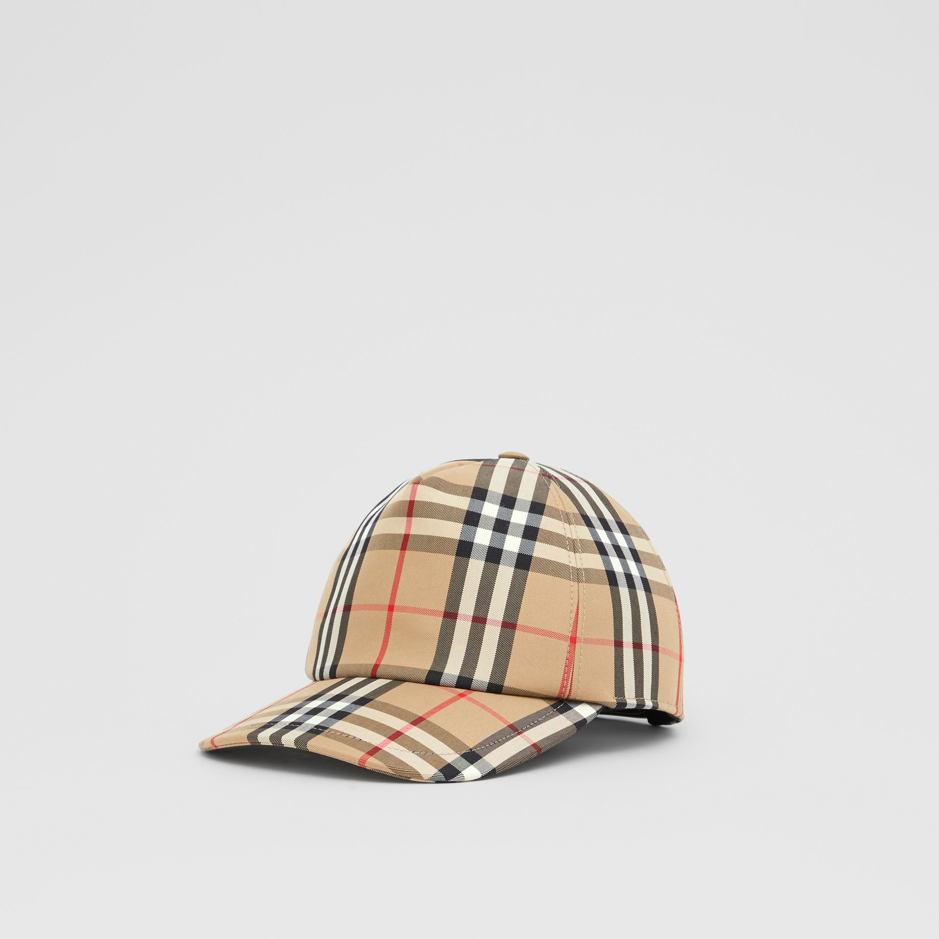 Logo Appliqué Vintage Check Baseball Cap in Archive Beige | Burberry United Kingdom - gallery image 4