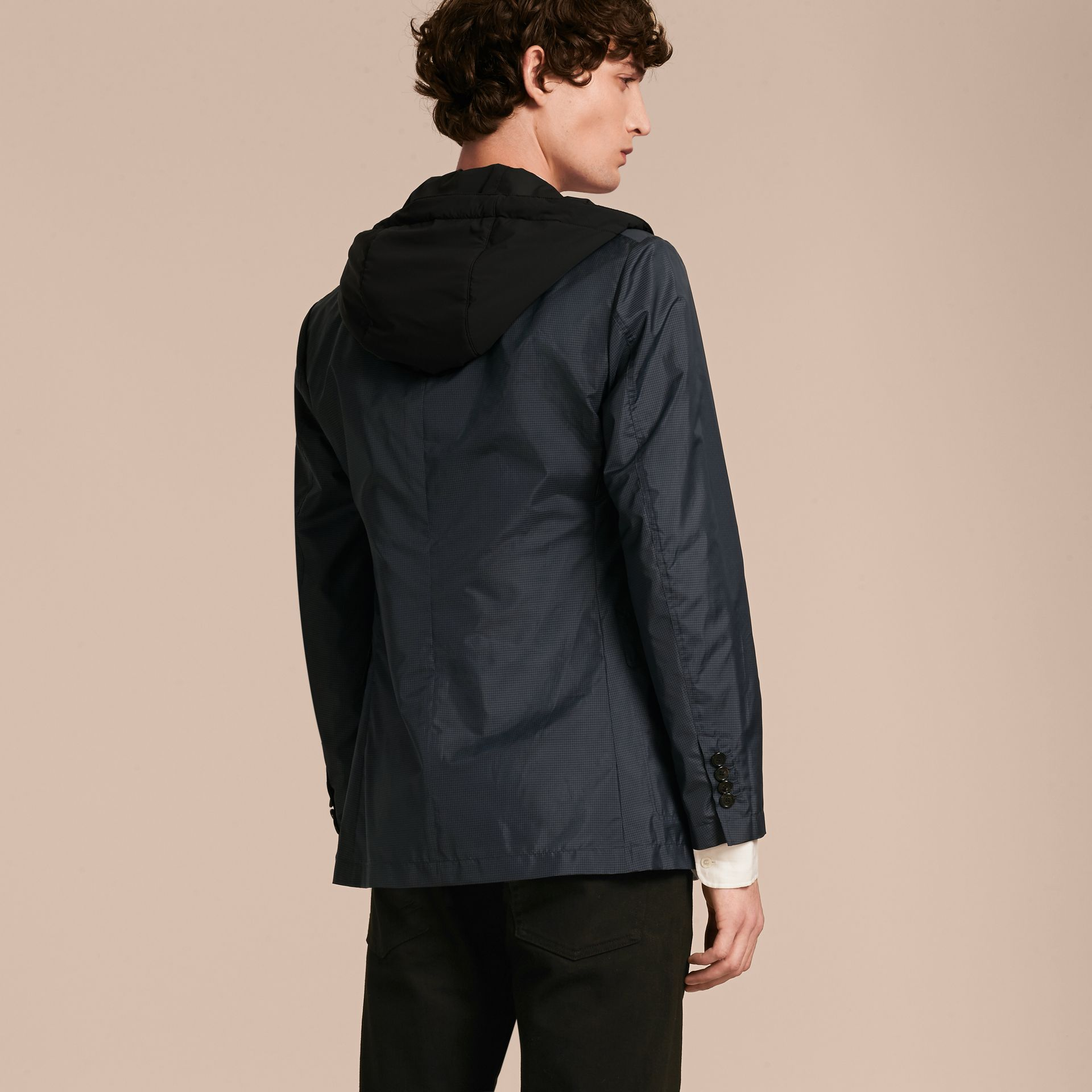 Technical Silk Jacket with Detachable Hooded Warmer - gallery image 3