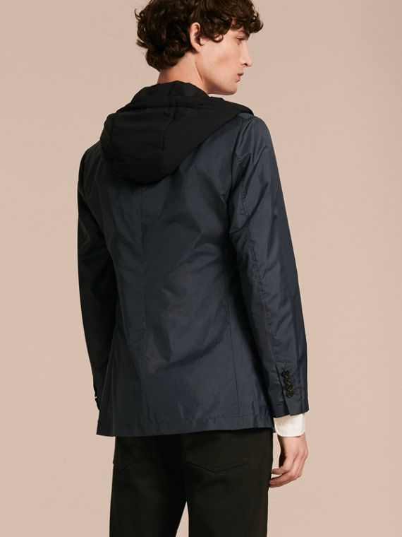 Technical Silk Jacket with Detachable Hooded Warmer - cell image 2