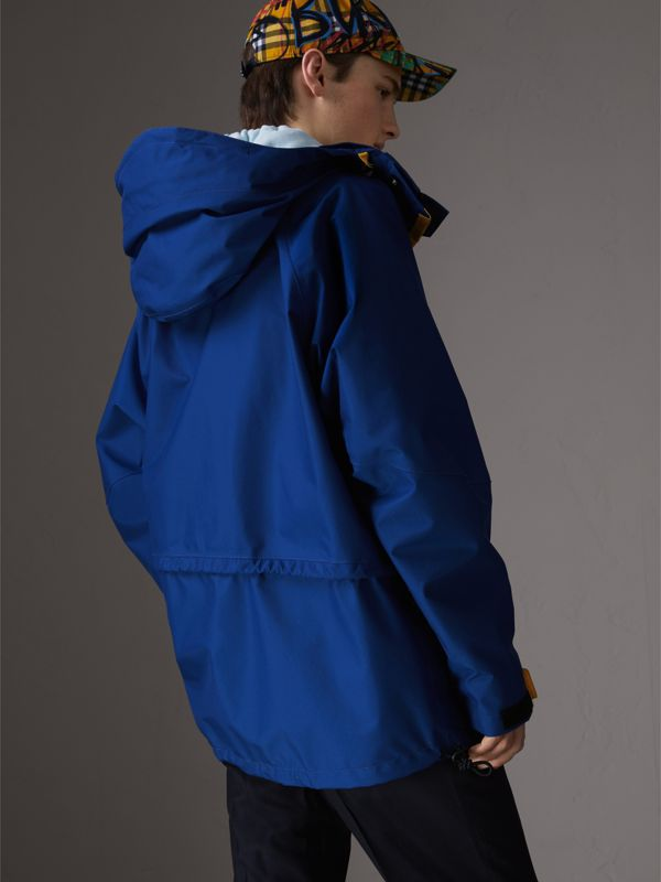 Tri-tone Nylon Hooded Jacket in Bright Navy - Men | Burberry - cell image 2
