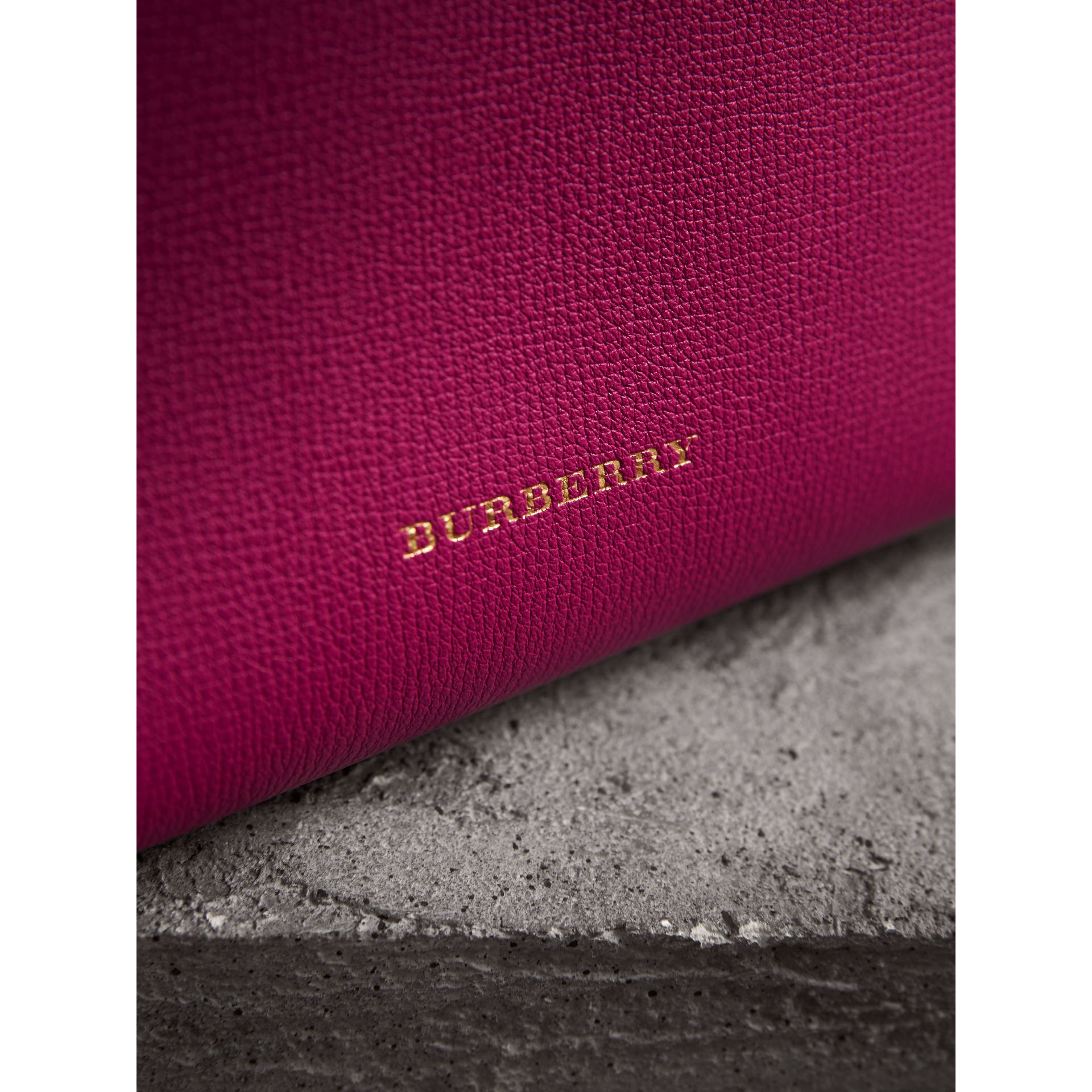 The Baby Banner in Leather and House Check in Brilliant Fuchsia - Women | Burberry - gallery image 6