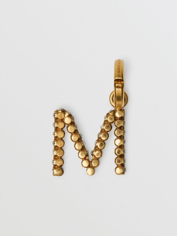 Crystal 'M' Alphabet Charm - Women | Burberry - cell image 2