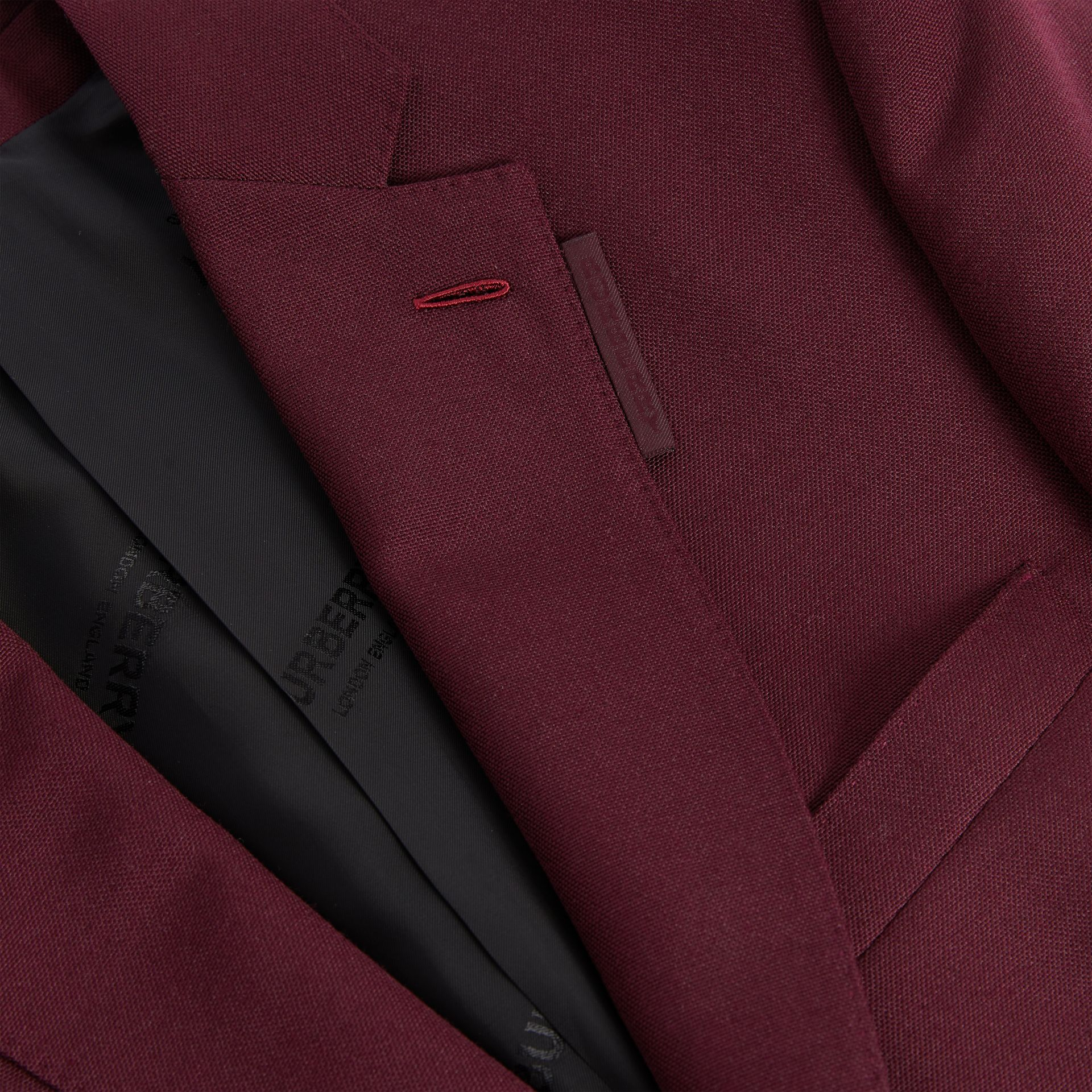 English Fit Wool Mohair Tailored Jacket in Deep Burgundy - Men | Burberry United Kingdom - gallery image 6