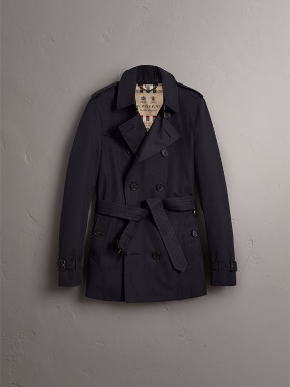 The Chelsea – Mid-length Heritage Trench Coat in Navy - Men | Burberry - cell image 3
