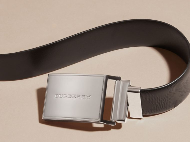 Reversible Check Embossed Leather Belt - Men | Burberry Canada - cell image 1