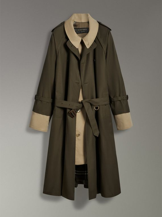 Tropical Gabardine Trench Coat in Dark Khaki Green | Burberry - cell image 3