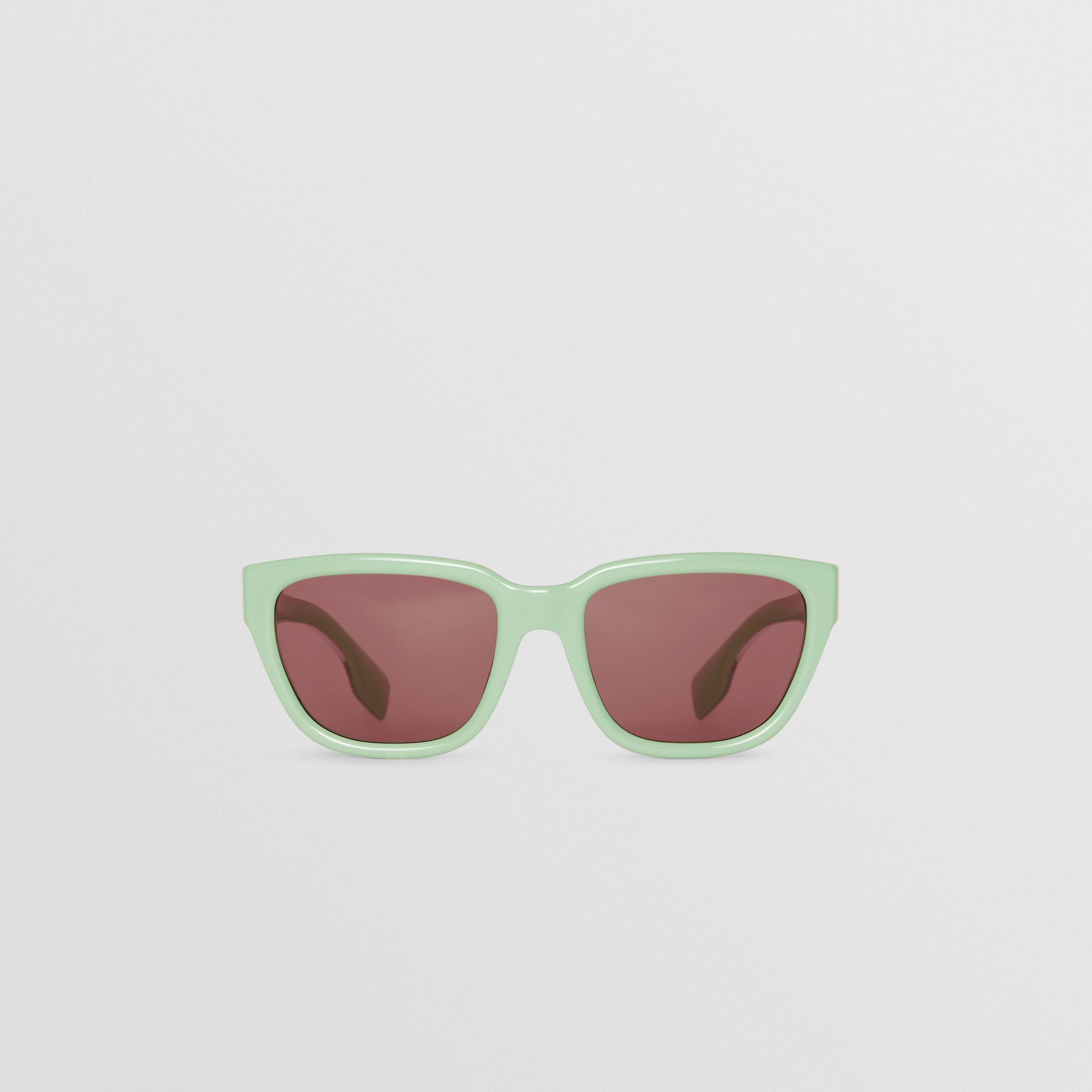 Square Frame Sunglasses in Mint Green - Women | Burberry - gallery image 0