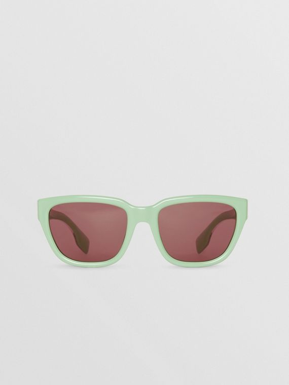 Square Frame Sunglasses in Mint Green