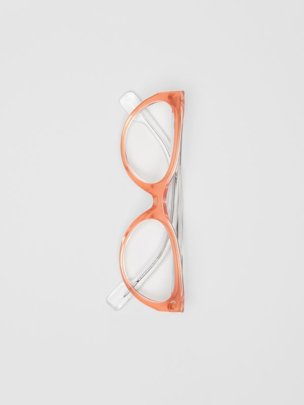 Cat-eye Optical Frames in Peach - Women | Burberry - cell image 3