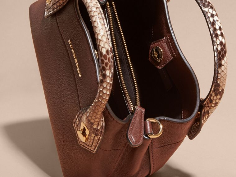 Dark chocolate The Baby Milton in Leather and Python - cell image 4