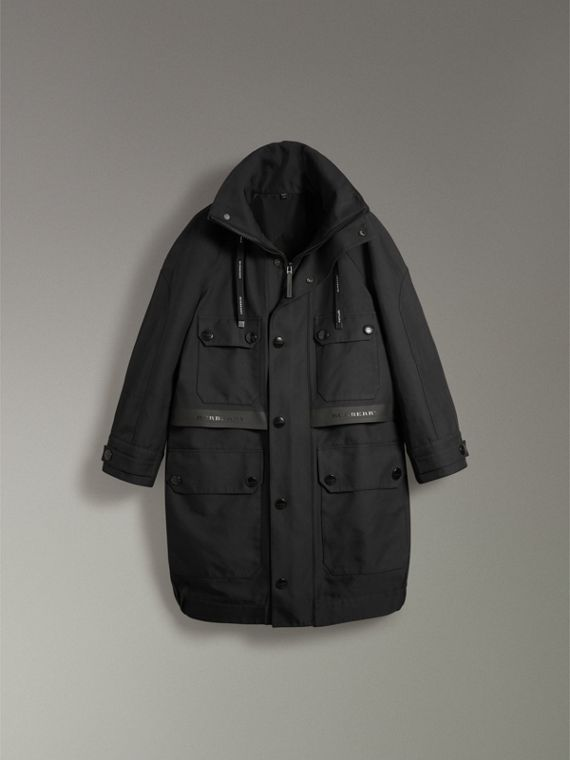 Bonded Technical and Cotton Twill Parka in Black | Burberry United Kingdom - cell image 3