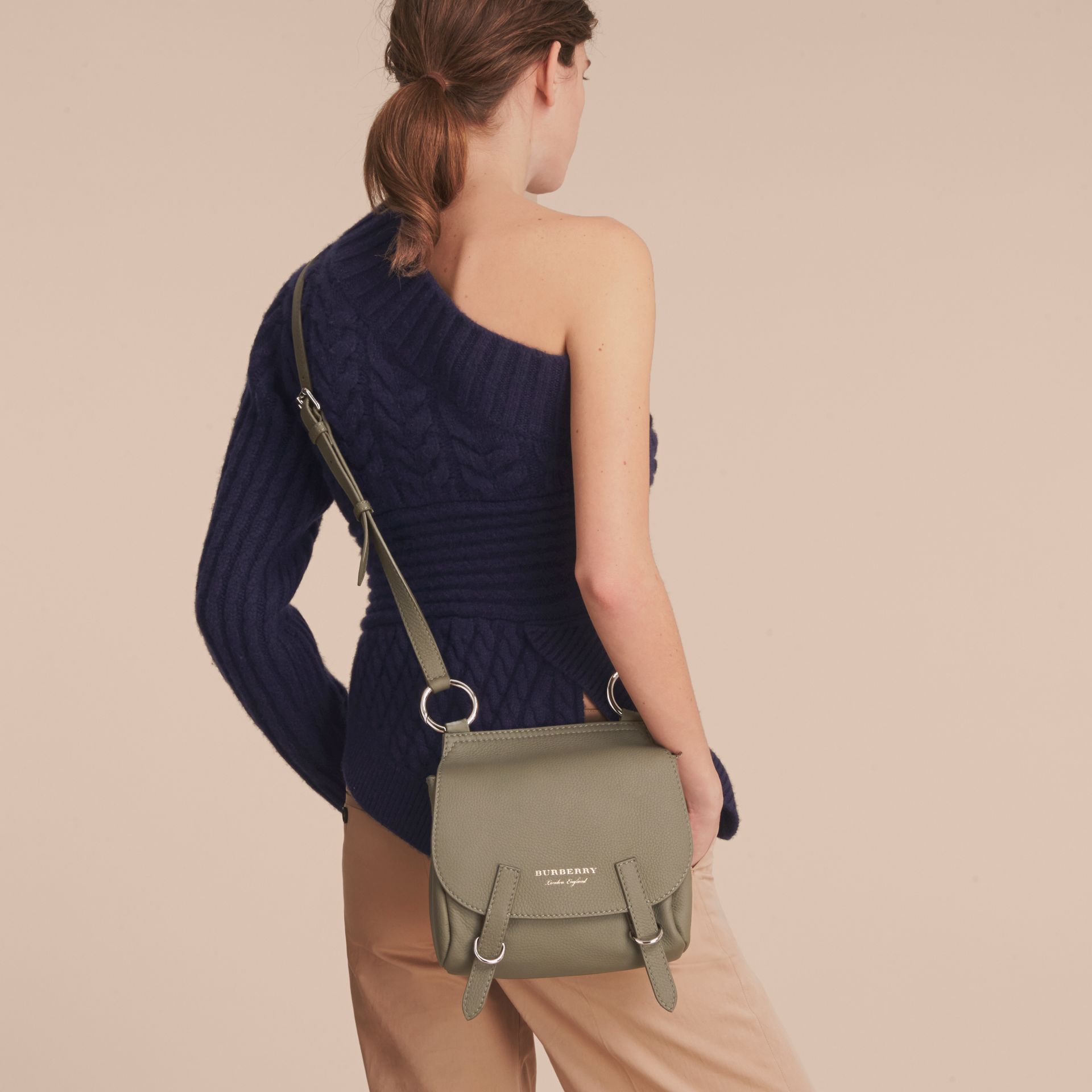 The Bridle Crossbody Bag in Deerskin in Slate Green - Women | Burberry Australia - gallery image 3