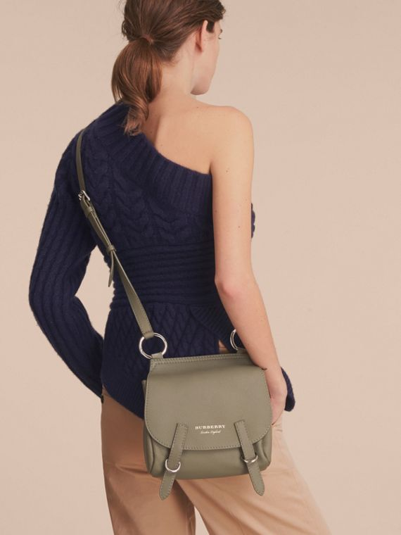 The Bridle Crossbody Bag in Deerskin in Slate Green - Women | Burberry Australia - cell image 2