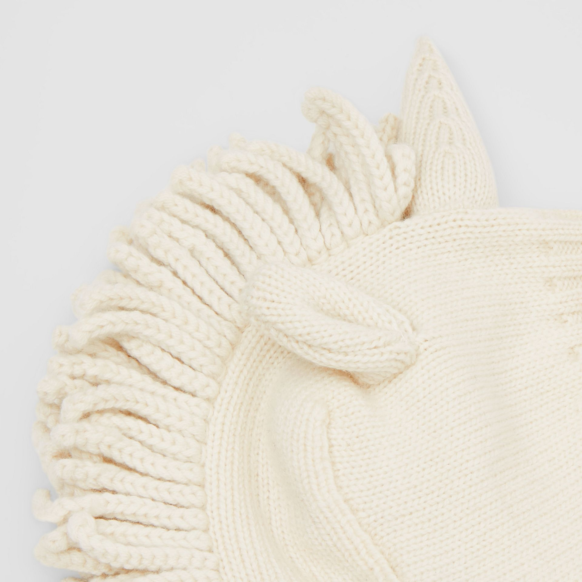 Unicorn Wool Cashmere Hat in Ivory - Children | Burberry - gallery image 1