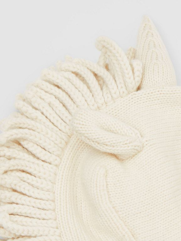 Unicorn Wool Cashmere Hat in Ivory - Children | Burberry - cell image 1