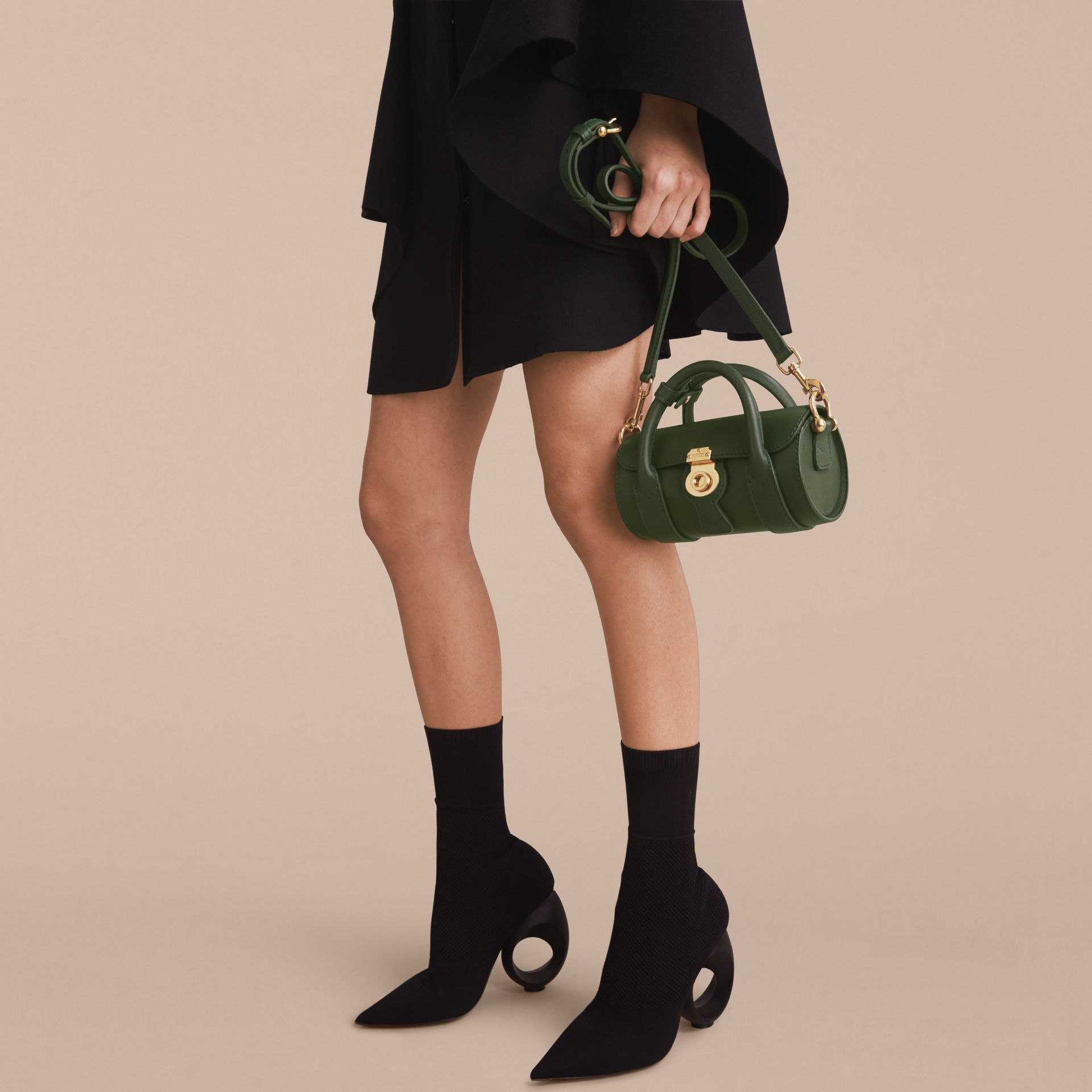 The Mini DK88 Barrel Bag in Dark Forest Green - Women | Burberry United States - gallery image 7