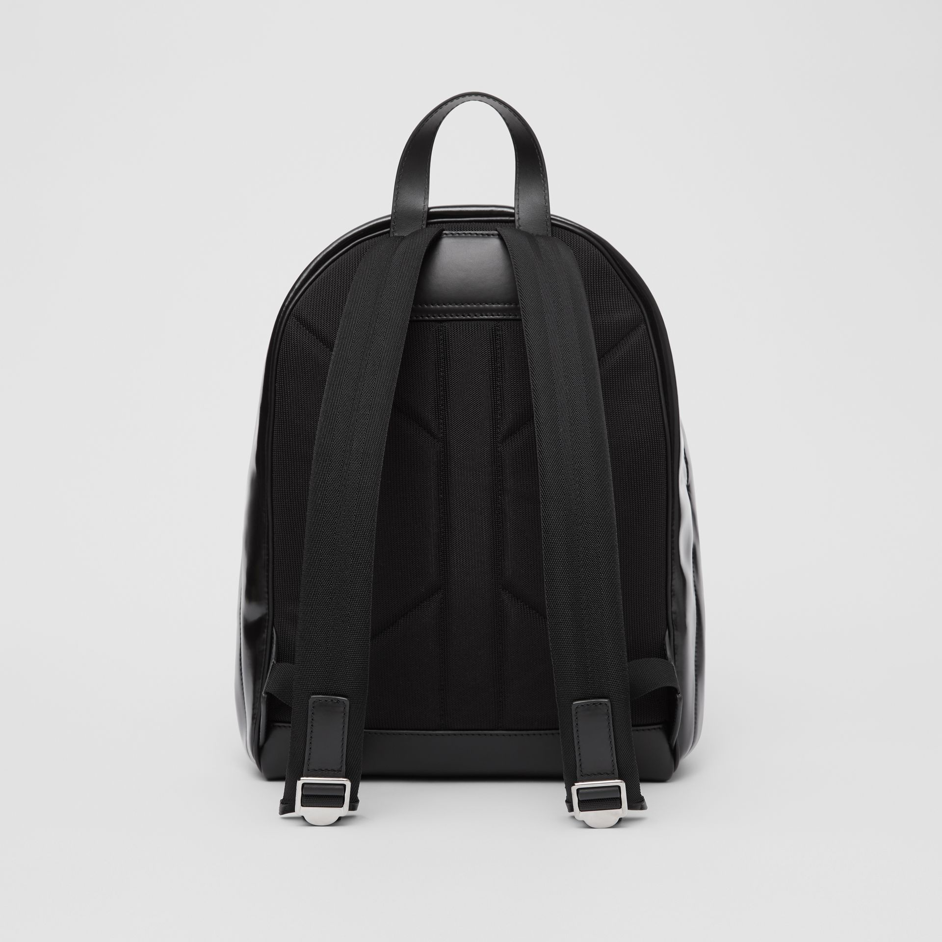 Horseferry Print Coated Canvas Backpack in Black/white | Burberry - gallery image 9