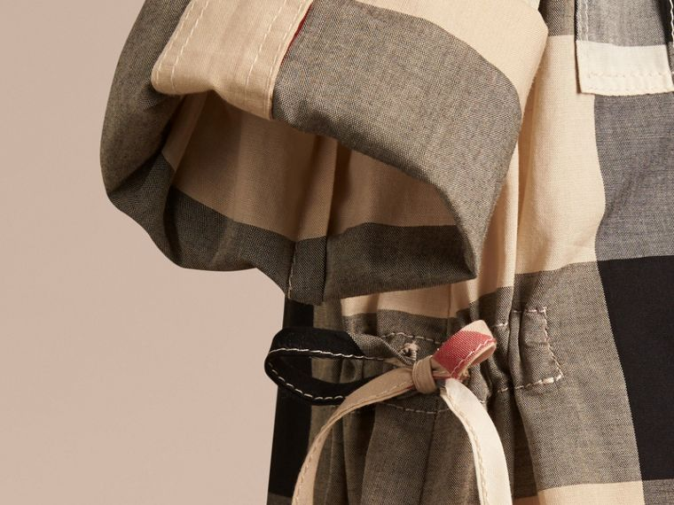 Abito chemisier in cotone con motivo check (New Classic) - Bambina | Burberry - cell image 1