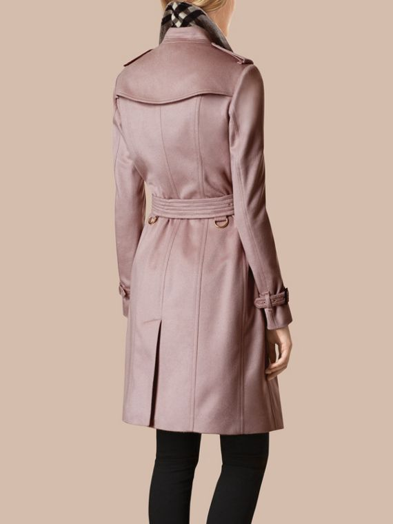 Pale orchid Sandringham Fit Cashmere Trench Coat Pale Orchid - cell image 2