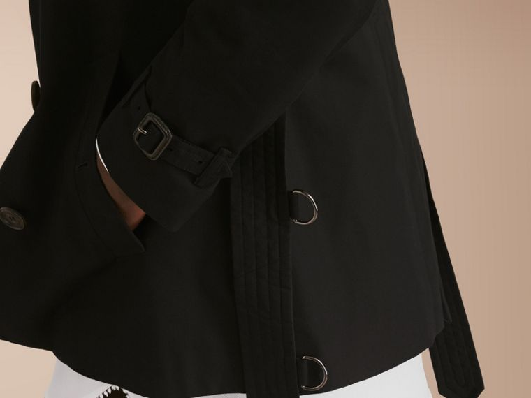 The Chelsea – Short Heritage Trench Coat in Black - cell image 4
