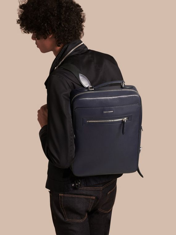 Dark navy London Leather Backpack Dark Navy - cell image 2