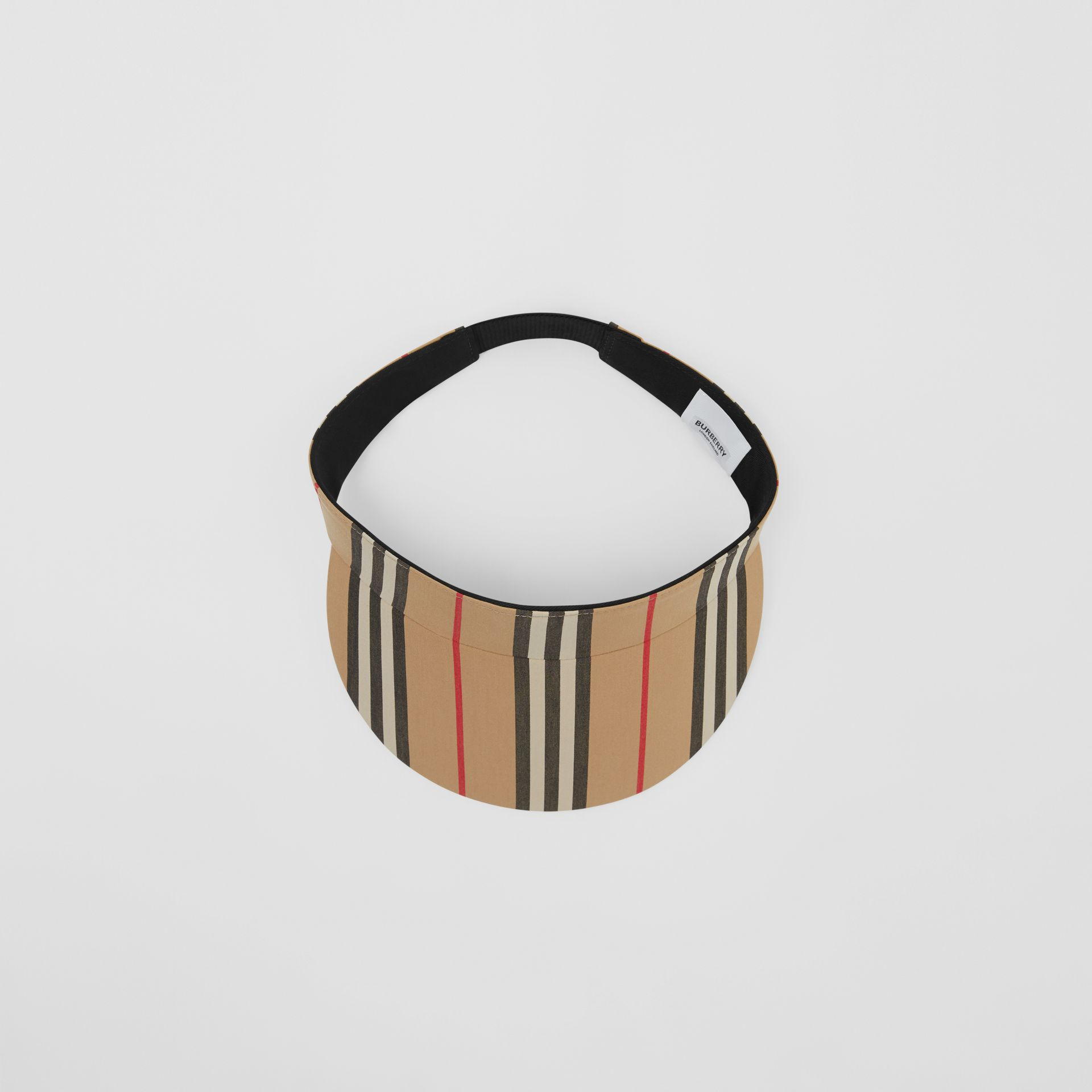 Icon Stripe Visor in Archive Beige | Burberry United States - gallery image 0