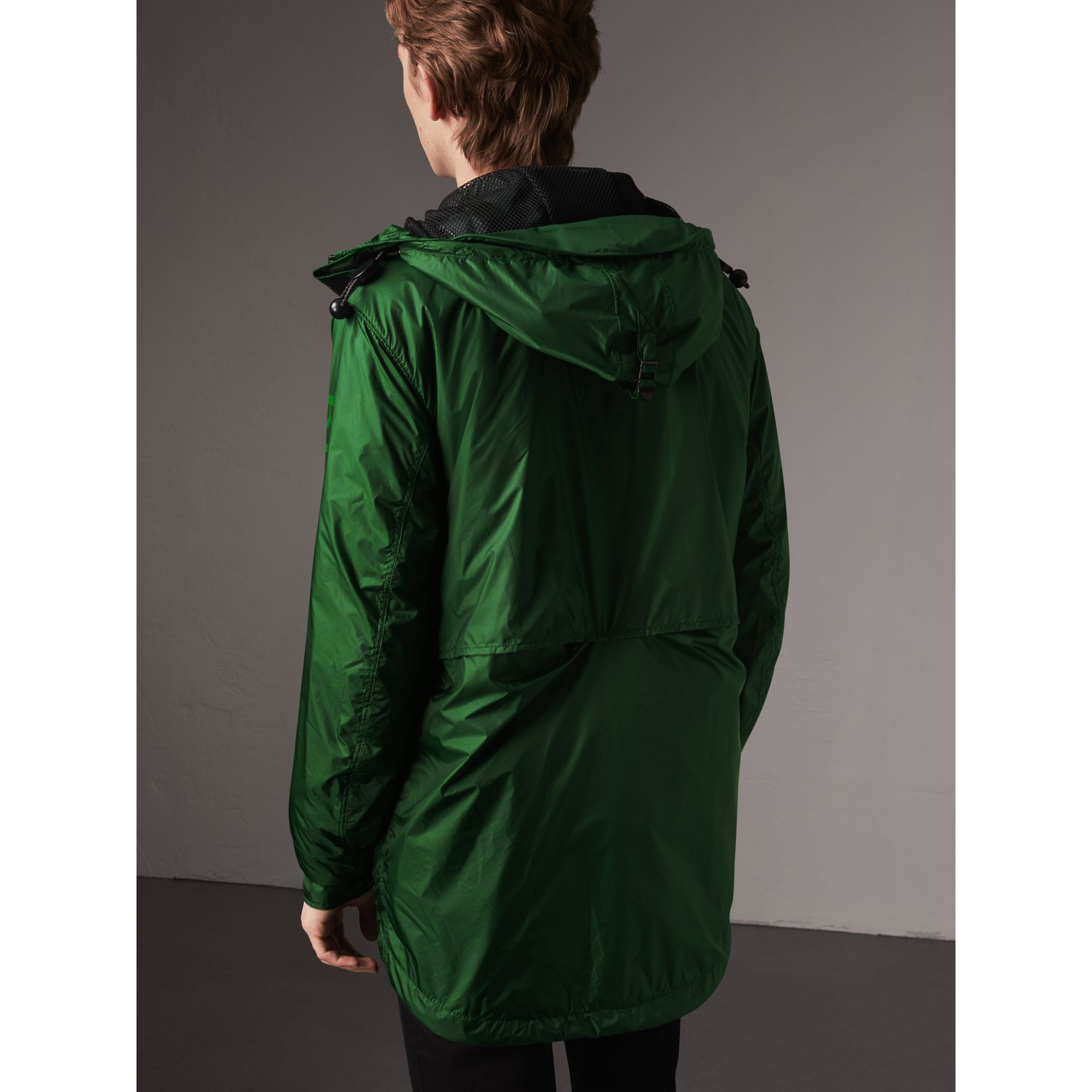 Lightweight Hooded Jacket in Pigment Green - Men | Burberry - gallery image 3