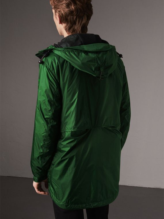 Lightweight Hooded Jacket in Pigment Green - Men | Burberry - cell image 2