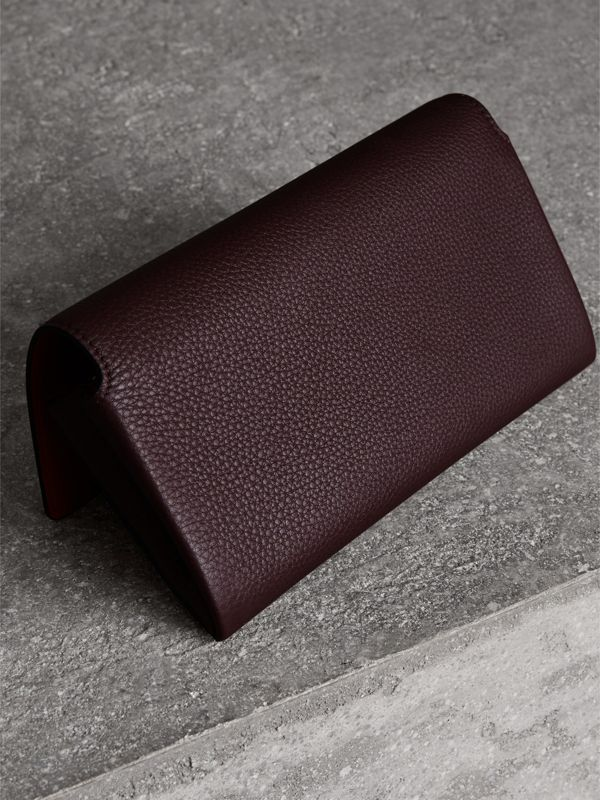 Two-tone Leather Continental Wallet in Deep Claret - Women | Burberry United States - cell image 2