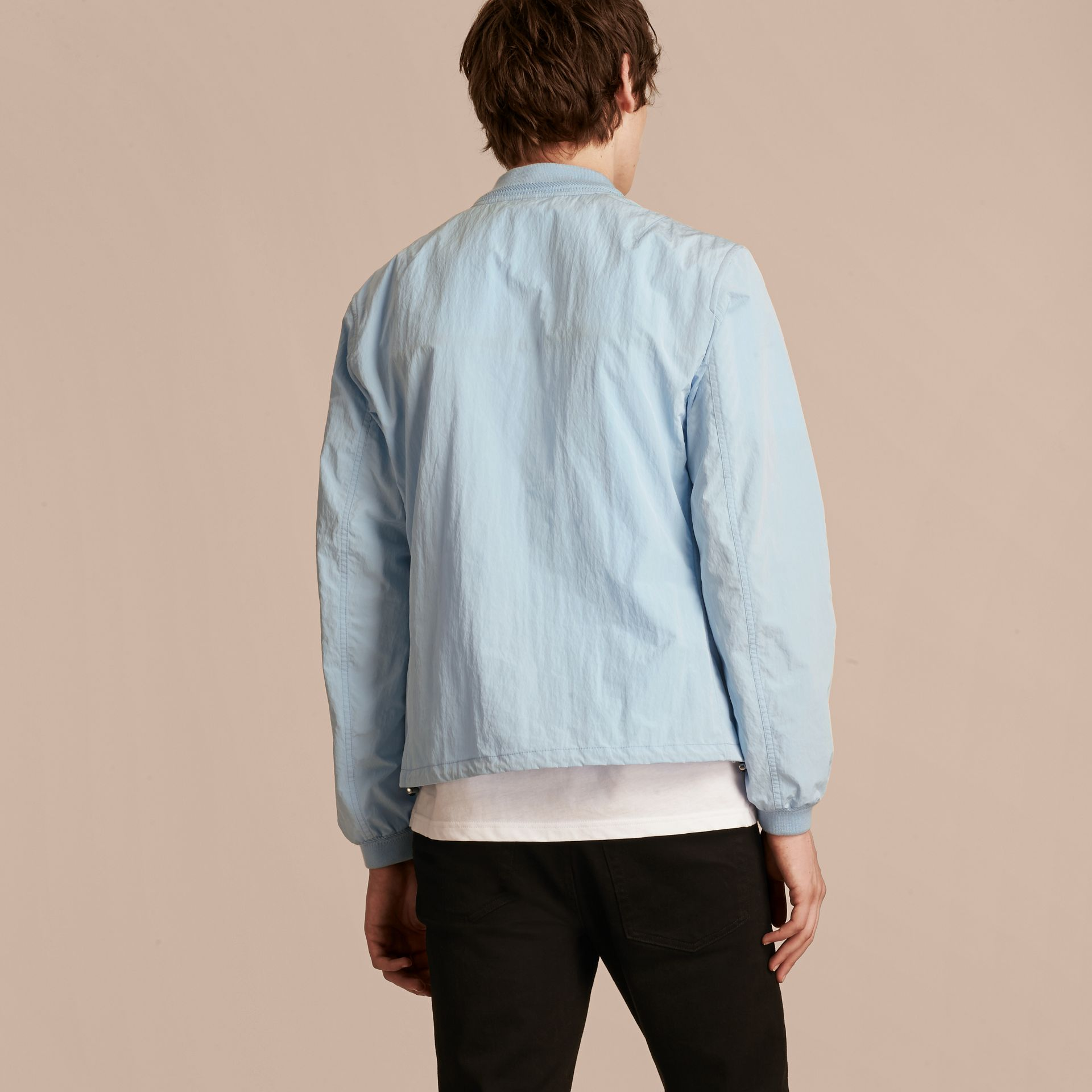Light blue Lightweight Technical Bomber Jacket - gallery image 3