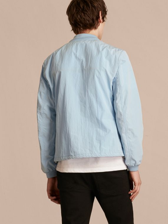 Light blue Lightweight Technical Bomber Jacket - cell image 2