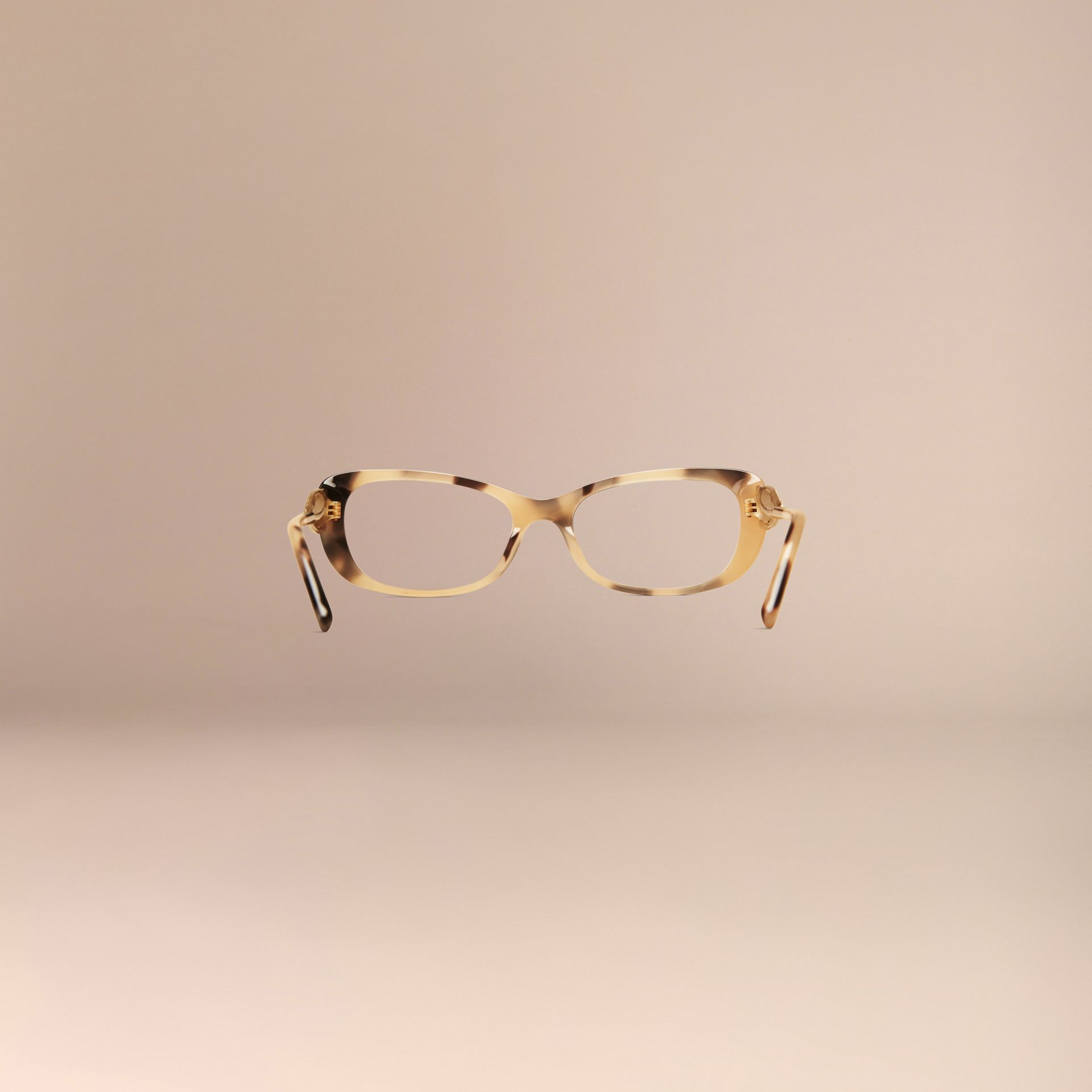 Light horn Gabardine Collection Oval Optical Frames - gallery image 4