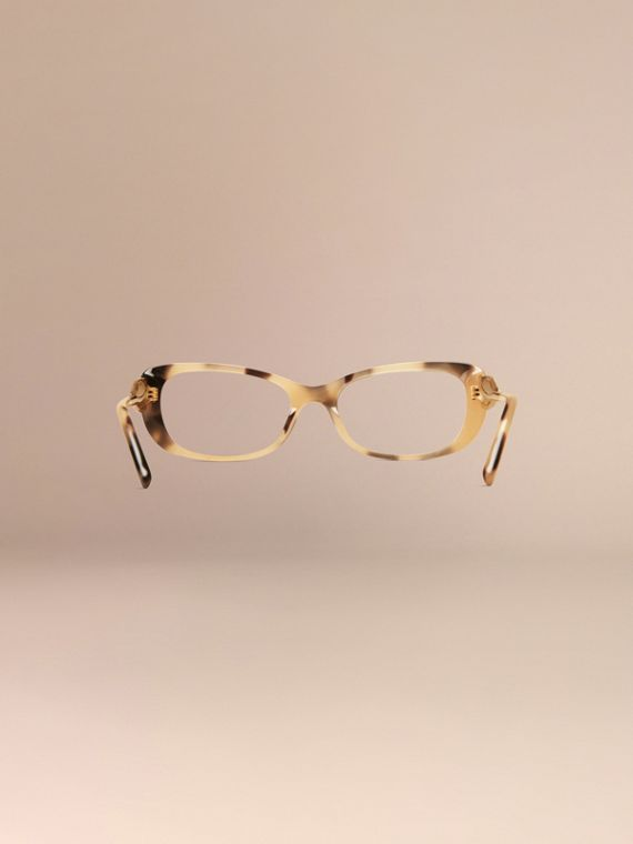 Light horn Gabardine Collection Oval Optical Frames - cell image 3
