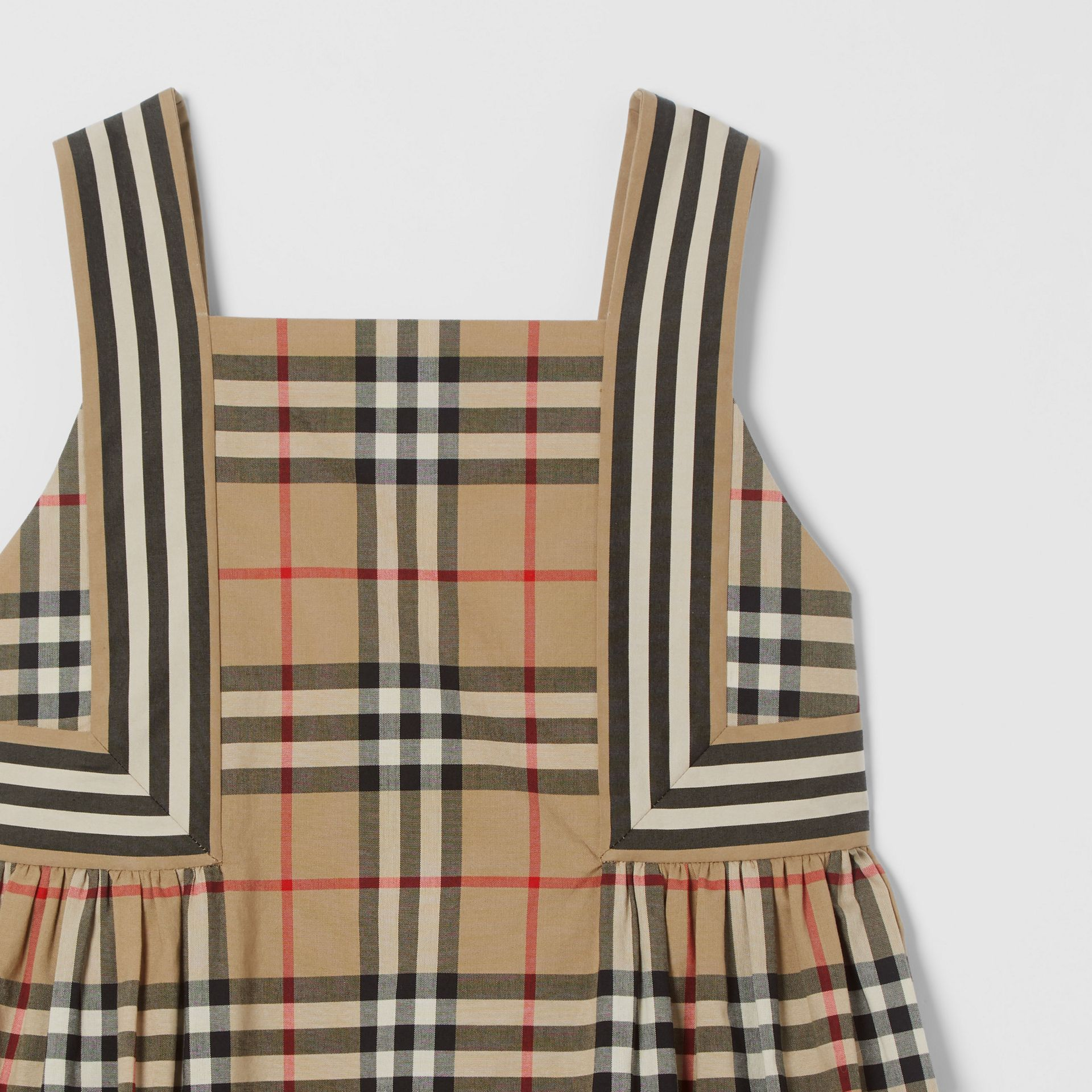 Vintage Check Cotton Dress in Archive Beige | Burberry Australia - gallery image 4