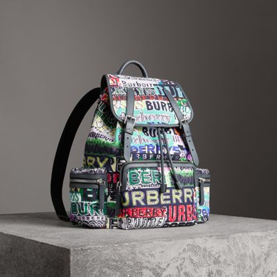 The Large Rucksack in Tag Print