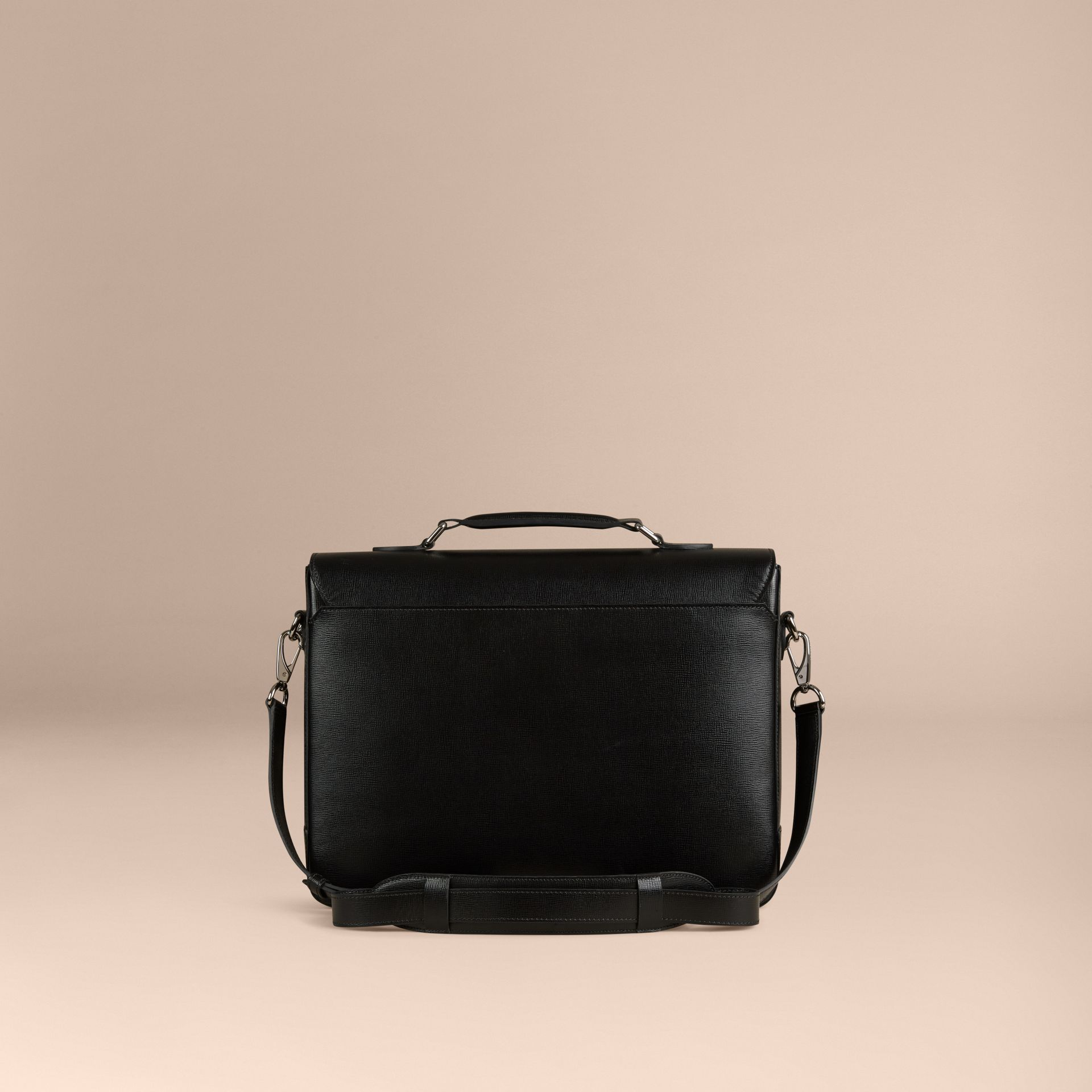 Black London Leather Briefcase - gallery image 4