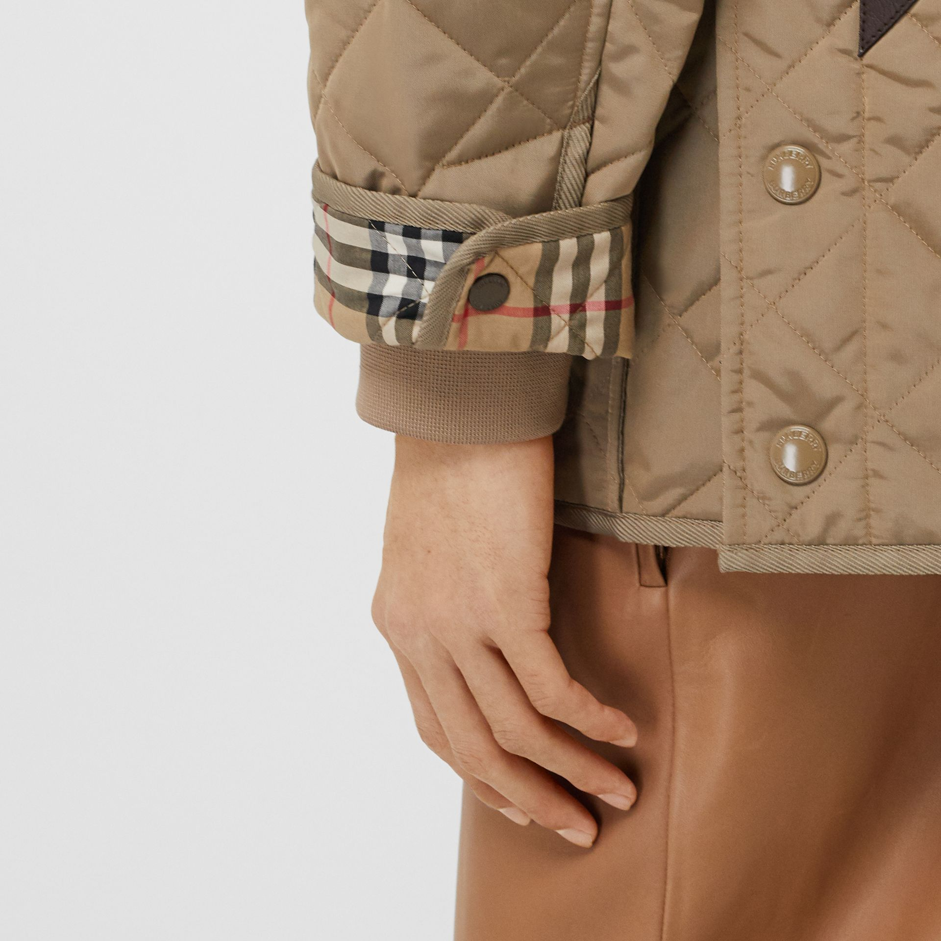 Diamond Quilted Thermoregulated Barn Jacket in Pale Granite - Men | Burberry - gallery image 5