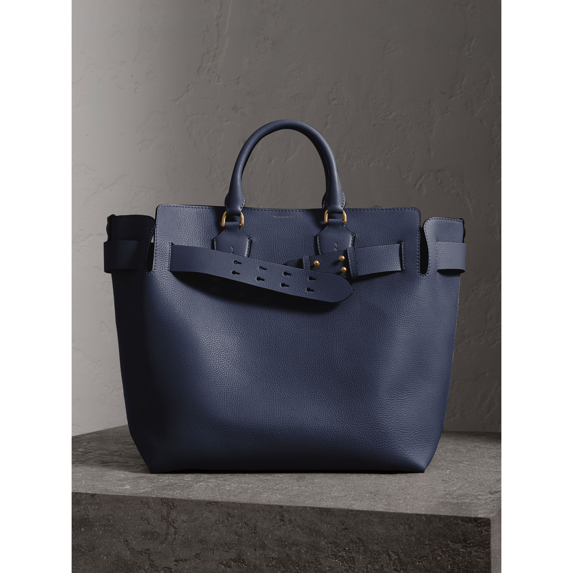 The Large Leather Belt Bag in Regency Blue | Burberry Singapore - gallery image 6