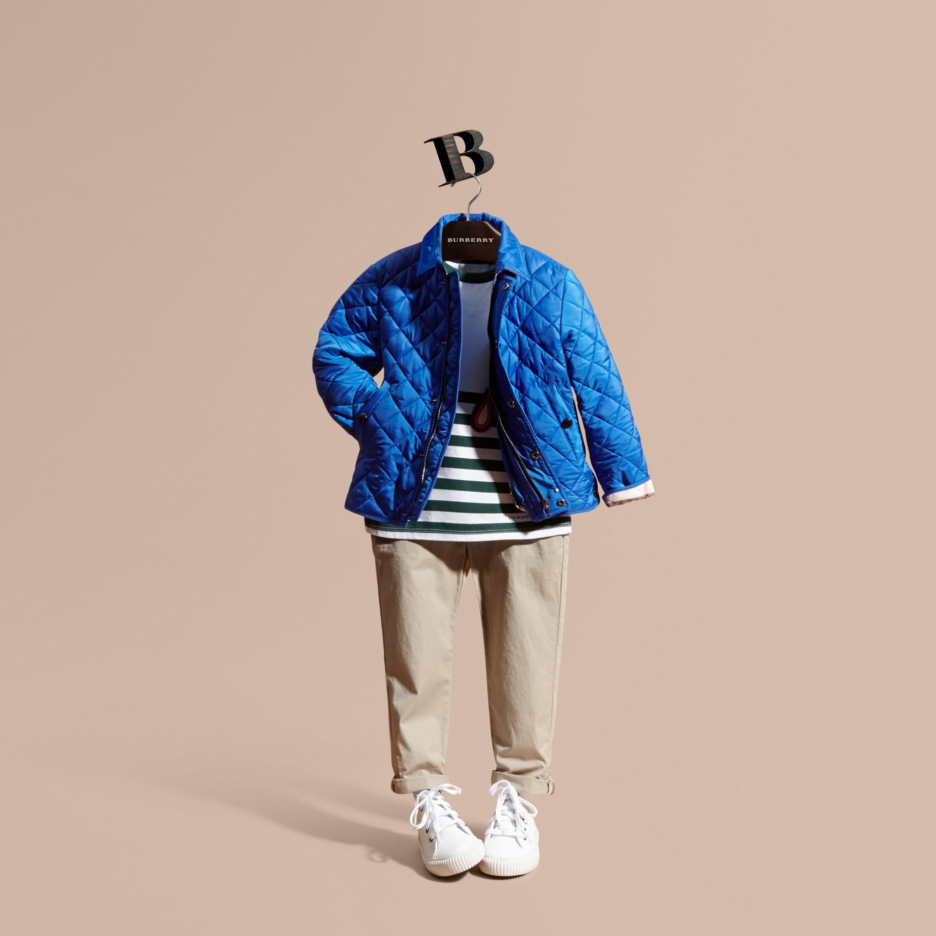Giacca trapuntata a rombi (Blu Brillante) - Bambino | Burberry - immagine della galleria 1