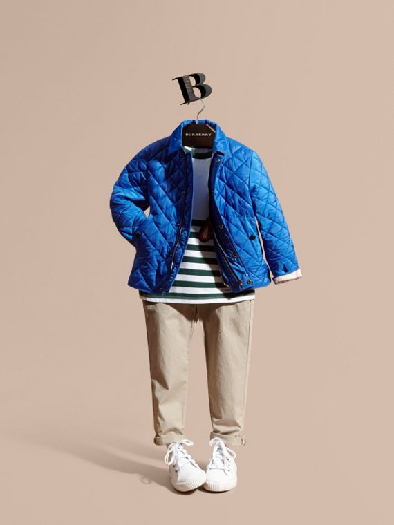 Diamond Quilted Jacket Brilliant Blue