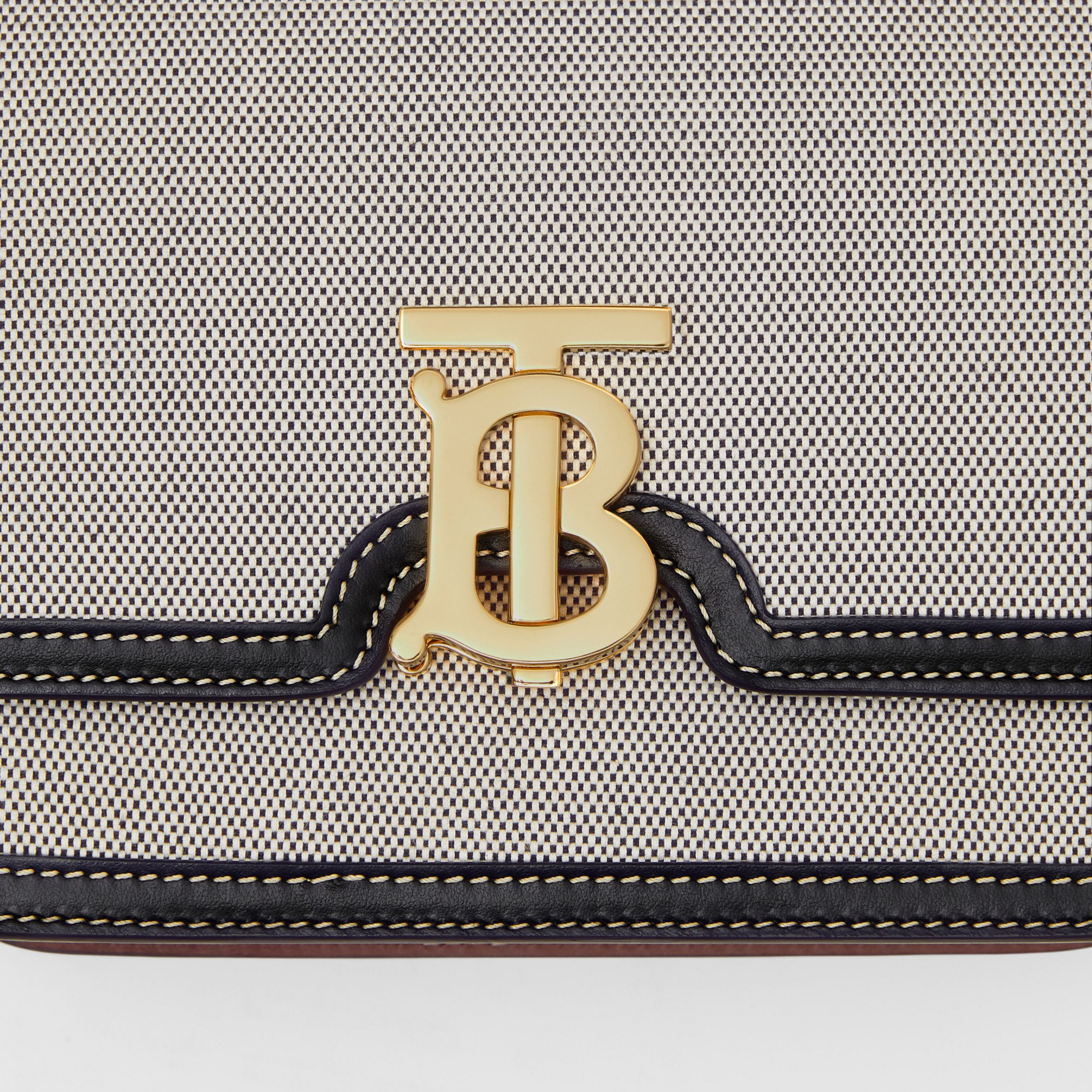 Small Tri-tone Canvas and Leather TB Bag in Black/tan - Women | Burberry Australia - 2