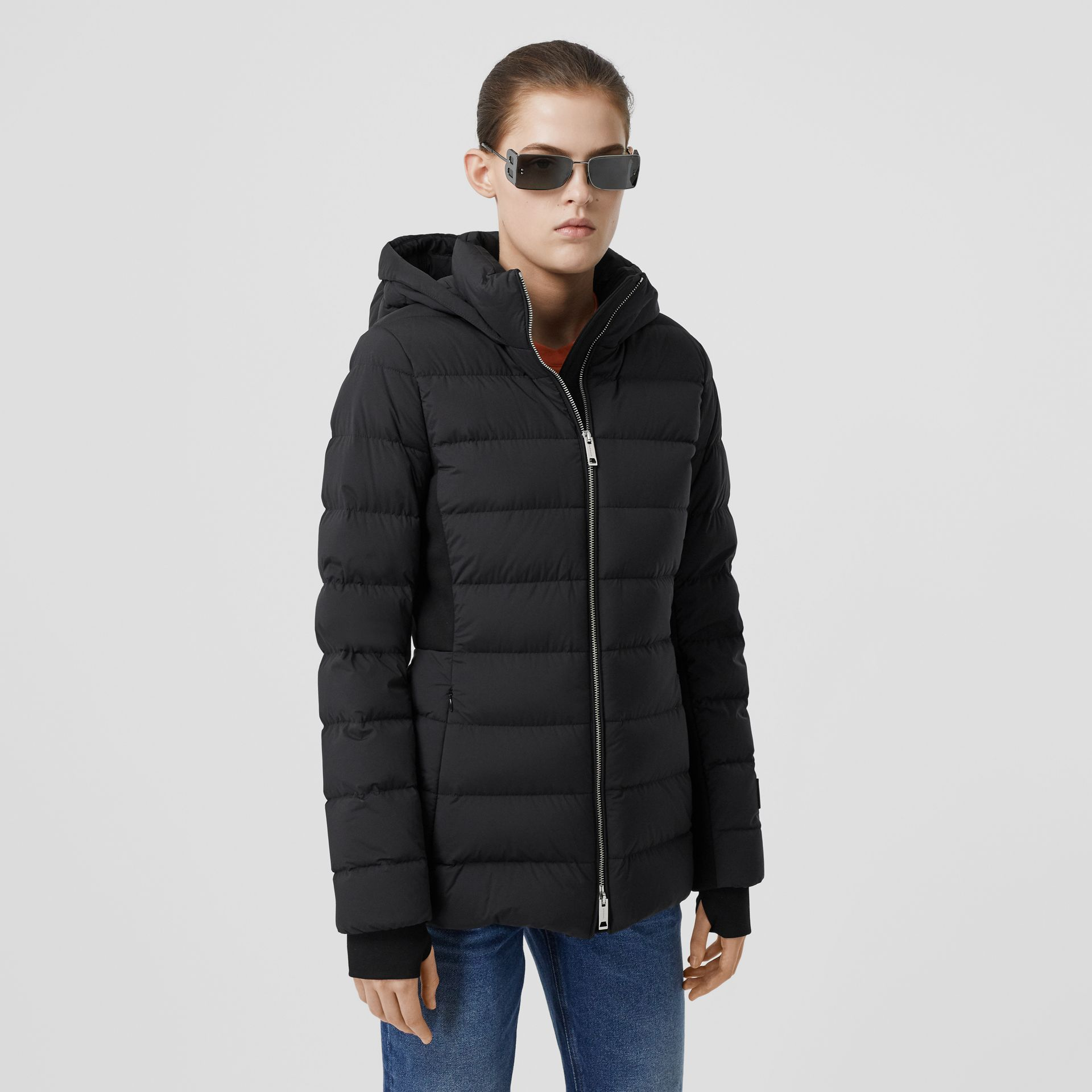 Hooded Puffer Jacket in Black - Women | Burberry United States - gallery image 5