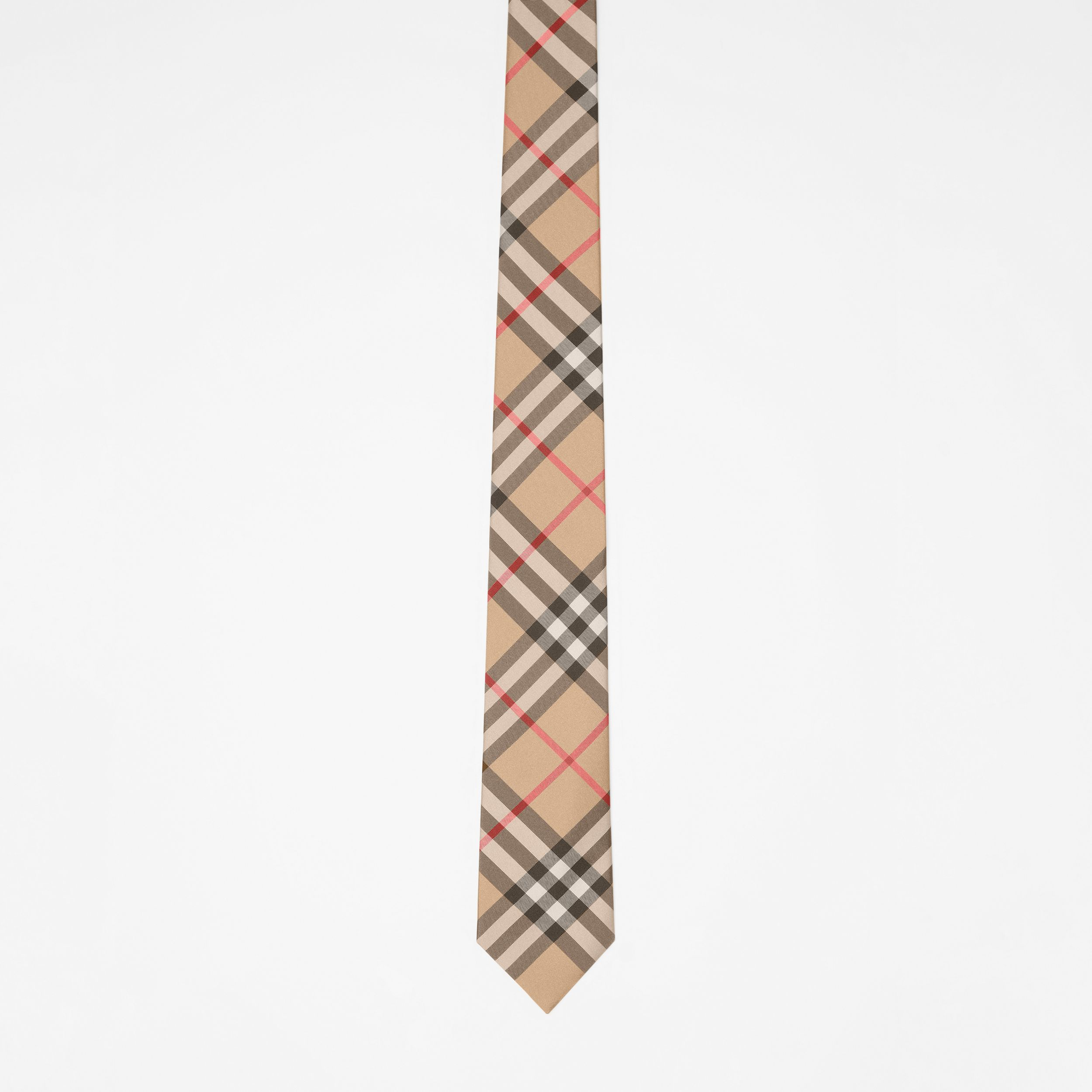 Modern Cut Vintage Check Silk Tie in Archive Beige - Men | Burberry - 4