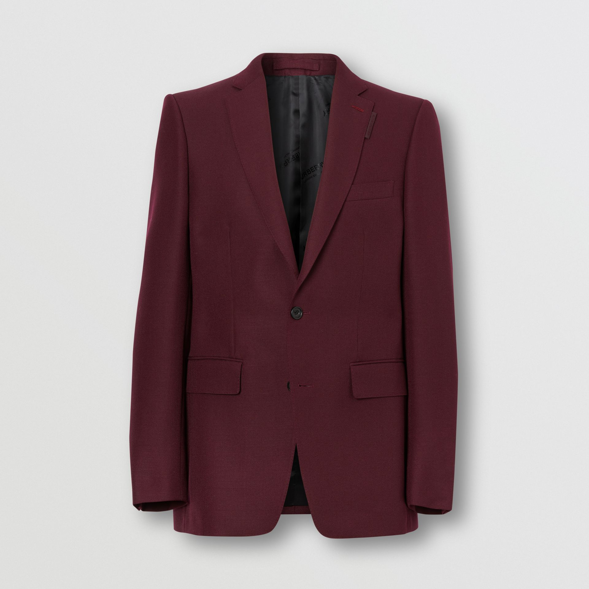 English Fit Wool Mohair Tailored Jacket in Deep Burgundy - Men | Burberry United Kingdom - gallery image 3