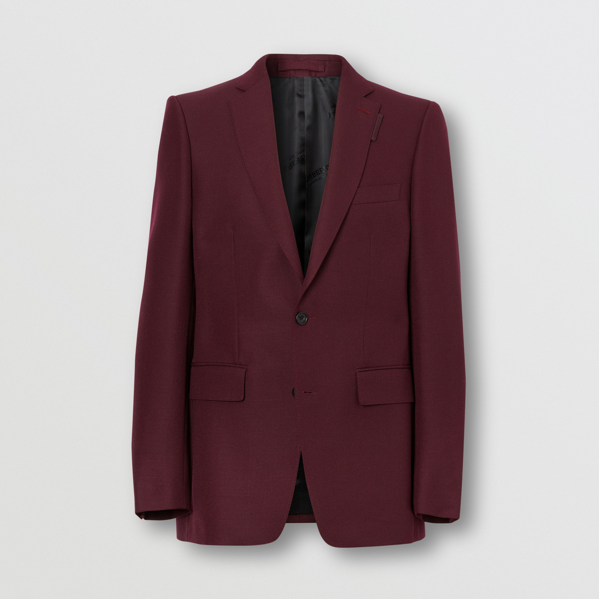 English Fit Wool Mohair Tailored Jacket in Deep Burgundy - Men | Burberry - 4