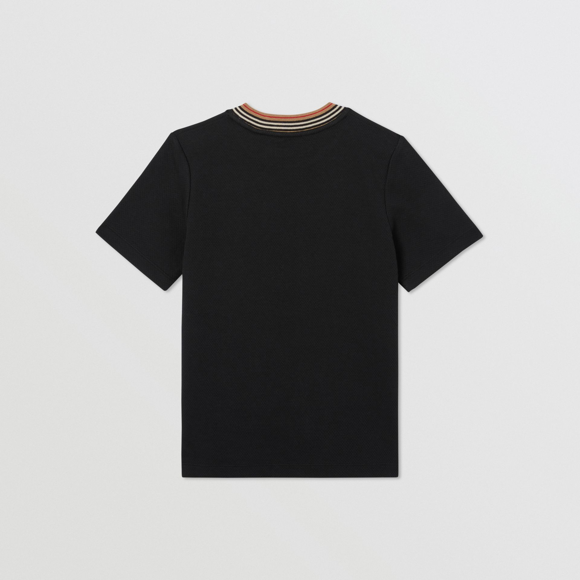 Contrast Logo Graphic Jersey Mesh T-shirt in Black | Burberry - gallery image 3